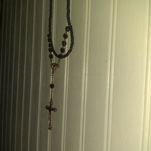 Onyx and gold Rosary